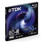 TDK BD-R 50go - 4x (Boite CD x1)