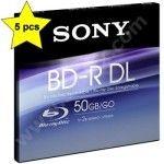 Sony BD-R 50 Go - 2x (Boite CD x5)