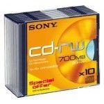 Sony CD-RW 80mn - 4x (Boite Slim x10)