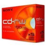 Sony CD-RW 80mn - 4x (Boite x5)