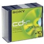 Sony CD-R 80mn - 48x (Boite Slim x10)