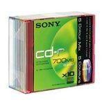 Sony CD-R 80mn - 48x (Boite Slim couleur x10)