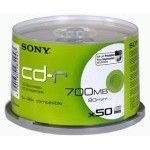 Sony CD-R 80mn - 48x (Spindle x50 - Imprimable)