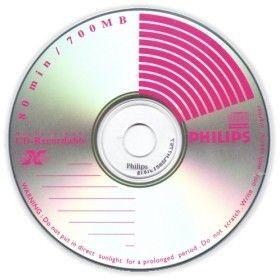 Philips CD-R 80mn - 52x (Boite Cristal x1)