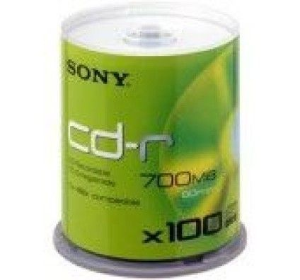 Sony CD-R 80mn - 48x (Spindle x100)