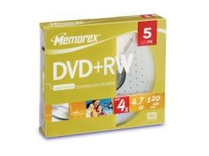 Memorex DVD+RW 4.7 Go - 4x (Boite Slim x5)