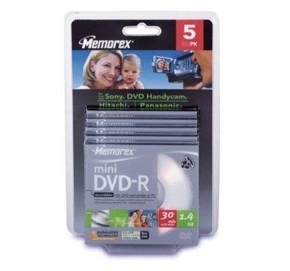 Memorex DVD-R 1.4 Go - 4x (Boite Slim x5)