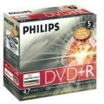 Philips DVD+R 4.7 Go - 16x (Boite CD x5)