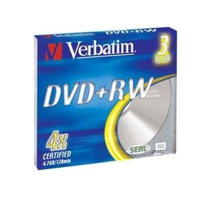 Verbatim DVD+RW 4.7 Go - 4x (Boite Slim x5)