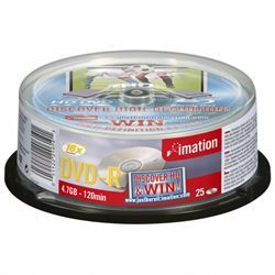 Imation DVD-R 4.7 Go - 16x (Spindle x25)