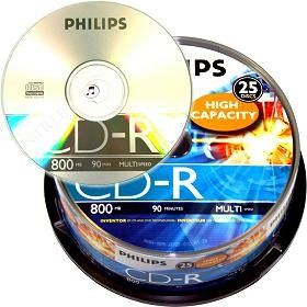 Philips CD-R 80mn - 52x (Spindle x25)