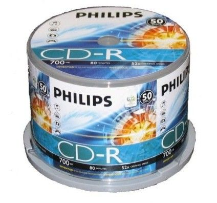 Philips CD-R 80mn -  52x (Spindle x50)