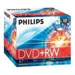 Philips DVD+RW 4.7 Go - 4x (Boite CD x10)