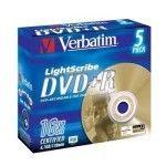 Verbatim DVD+R 4.7 Go - 16x (Boite CD x5) LightScribe