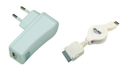 Zip-Linq Câble chargeur/synchro USB blanc pour iPod