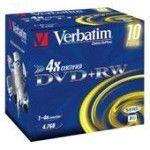 Verbatim DVD+RW 4.7 Go - 4x (Boite CD x10)