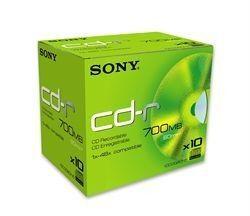 Sony CD-R 80mn - 48x (Boite x10)