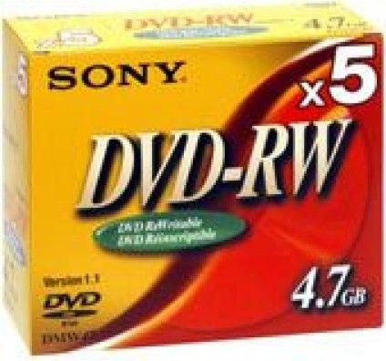 Sony DVD+RW 4.7 Go 2x (Boite CD x5)
