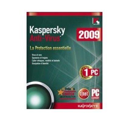 Kaspersky Antivirus 2009 (1 poste) - PC