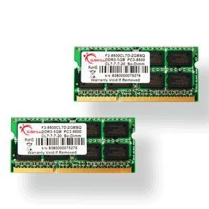 G.Skill So-Dimm Mac DDR3-1066 CL7 8Go (2x4Go)