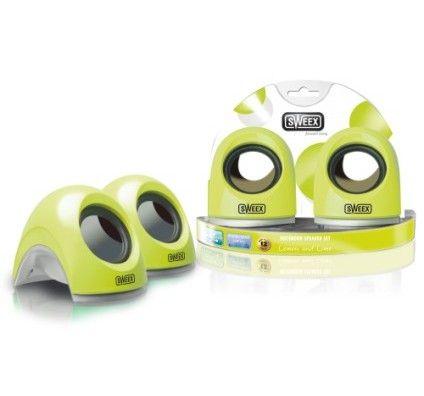 Sweex SP135 Notebook Speaker Set (Lemon and Lime)
