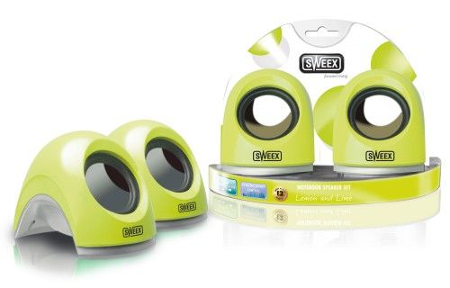 Sweex SP135 Notebook Speaker Set (Lemon and Lime)