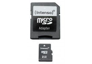 Intenso Micro SD 2Go + Adaptateur SD