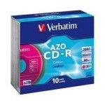 Verbatim 10 CDR 80mn certifié 52x Couleur