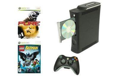 Microsoft Xbox 360 Elite + Pure + Lego Batman