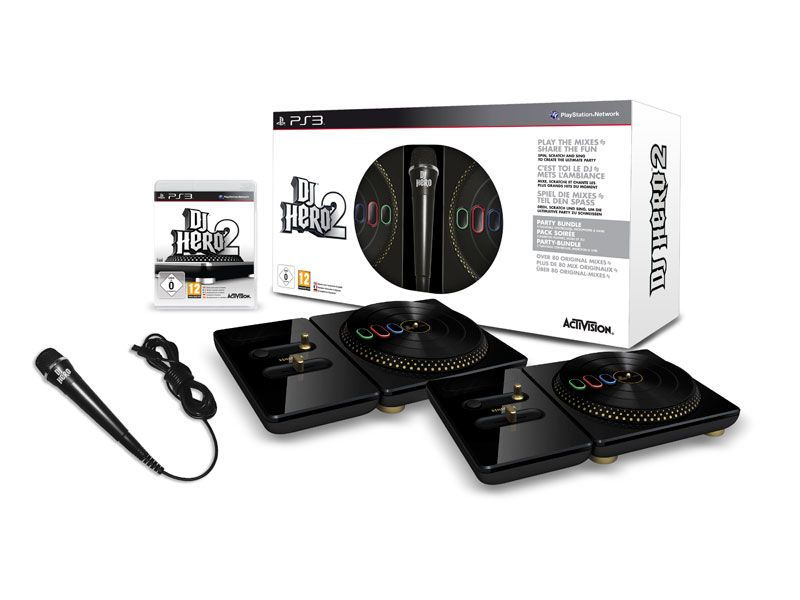 dj hero 2 party pack ps3 jeux vid o playstation 3 acheter au meilleur prix. Black Bedroom Furniture Sets. Home Design Ideas