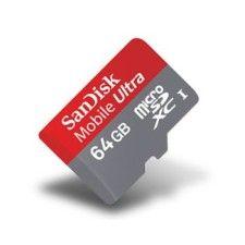SanDisk Mobile Ultra microSDXC UHS-I 64Go + Adapateur SD