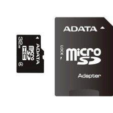 A-Data Micro SDHC 32Go Class 4 + Adaptateur SD