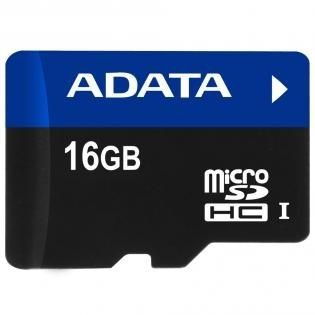 A-Data Micro SDHC UHS-I 16Go + Adaptateur SD