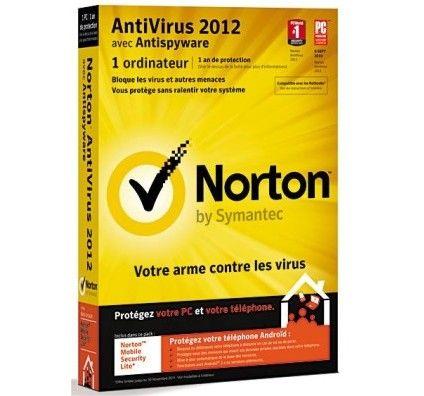 Norton Antivirus 2012 1 poste - PC