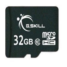 G.Skill MicroSD-HC 32Go CL10 + Adaptateur SD