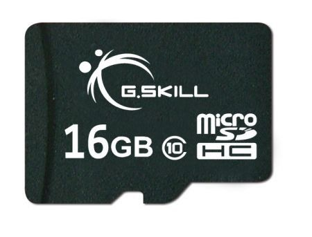 G.Skill MicroSD-HC 16Go CL10 + Adaptateur SD