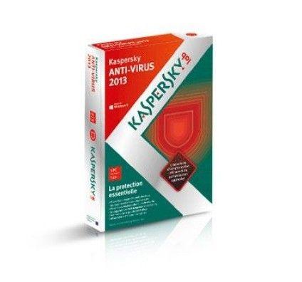 Kaspersky Antivirus 2013 - Licence 1 an 1 poste - PC