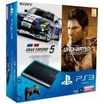 Sony Playstation 3 Ultra Slim 500Go + GT 5 Academy Edition + Uncharted 3