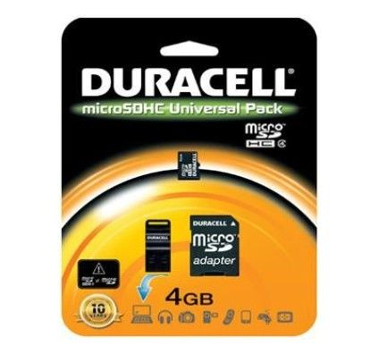 Duracell Micro SDHC 4Go Class 4 (Adaptateurs SD & USB)