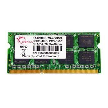 G.Skill So-Dimm DDR3-1066 CL7 4Go (F3-8500CL7S-4GBSQ)