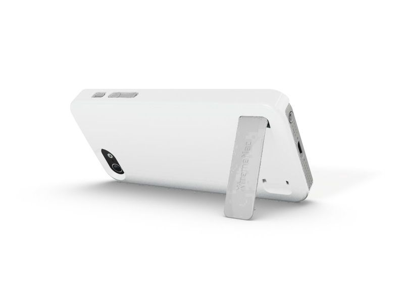 XtremeMac Coque Microshield Stand iPhone 5 (Blanc)