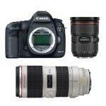 Canon EOS 5D Mark III + 24-70mm + 70-200mm