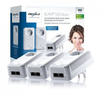 Devolo dLAN 500 duo+ Network Kit (x3)