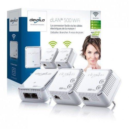 Devolo dLAN 500 WiFi Network Kit (x3)