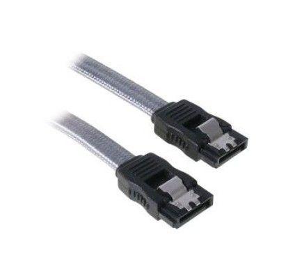 BitFenix Alchemy - Câble SATA III 6 Gb/s - 30cm (Argent)