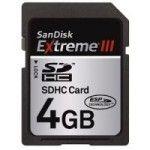 SanDisk SDHC Extreme III 4Go Class 6