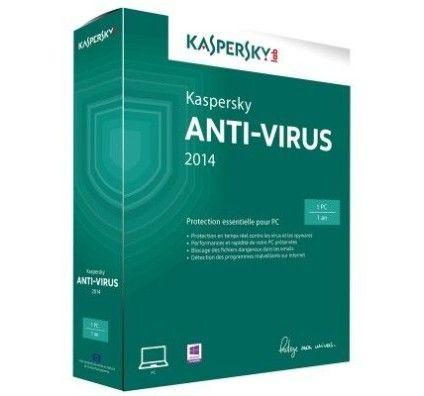 Kaspersky Antivirus 2014 (1 poste) - PC