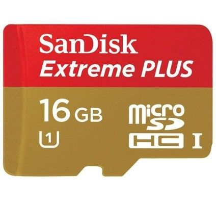 SanDisk Extreme Plus microSDHC UHS-I 16Go CL10 + Adaptateur SD