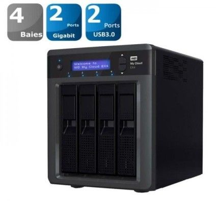 WD My Cloud EX4 + 8To - WDBWWD0080KBK
