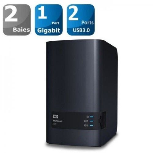 WD My Cloud EX2 + 8To - WDBVKW0080JCH